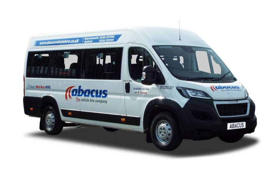 17 Seater Minibus 17 Seat Lite for hire from Abacus Vehicle Hire