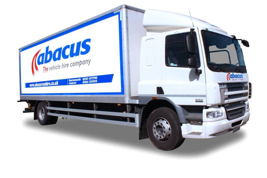 18T Box Tail Lift, Sleeper Cab for hire from Abacus Vehicle Hire