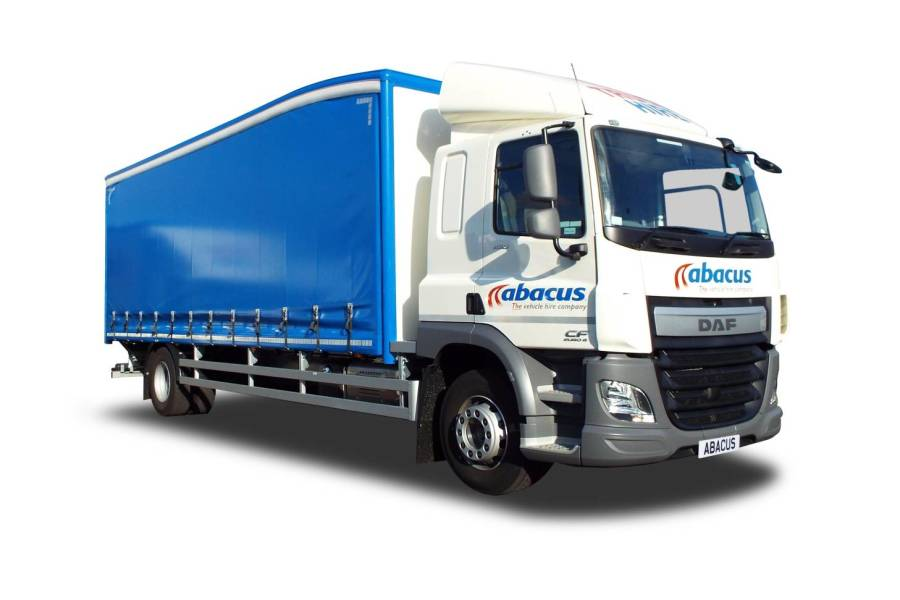 18T Curtainside Tail Lift, Sleeper Cab for hire from Abacus Vehicle Hire