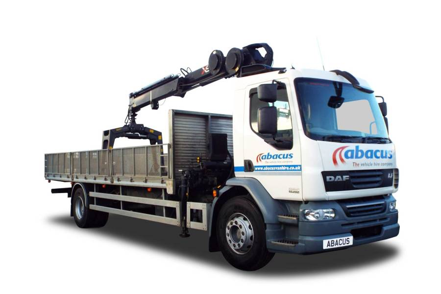 18T HI-AB Brickgrab, Dropside for hire from Abacus Vehicle Hire