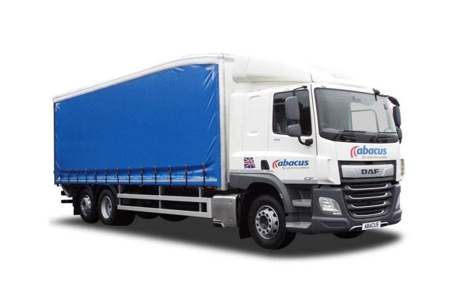 26T Curtainside Tail Lift for hire from Abacus Vehicle Hire