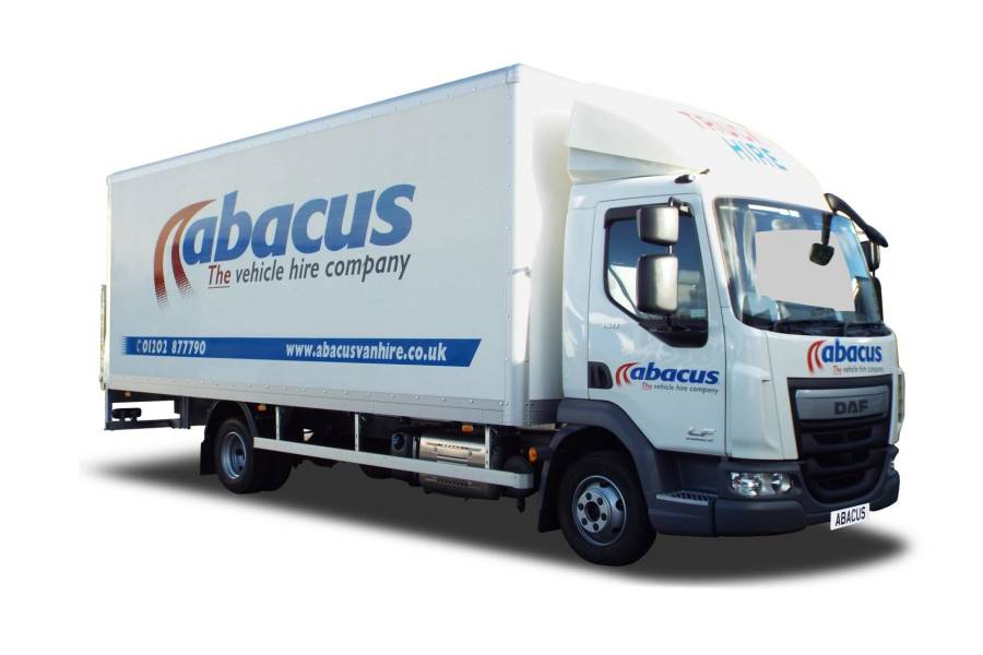 7.5T Box Tail Lift for hire from Abacus Vehicle Hire
