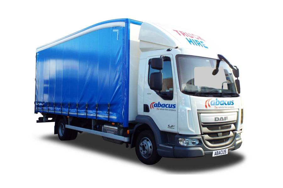7.5T Curtainside Tail Lift for hire from Abacus Vehicle Hire